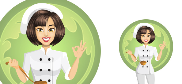 Female Chef Vector