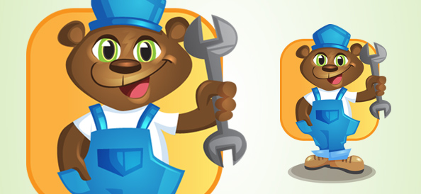 Bear Vector Character