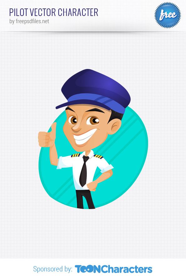 Pilot Vector Character