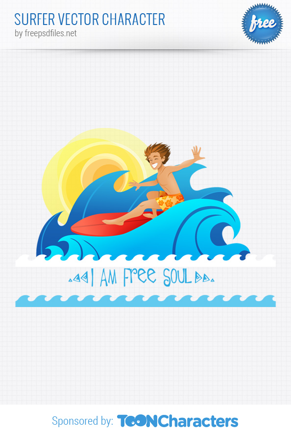 Surfer Vector Character