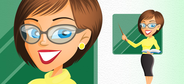 Vector Female Teacher