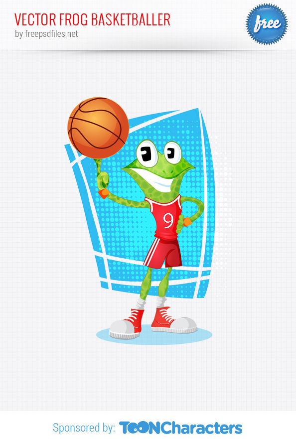 Vector Frog Basketballer