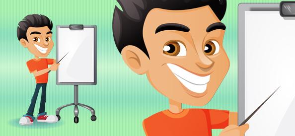 Vector Presentation Boy