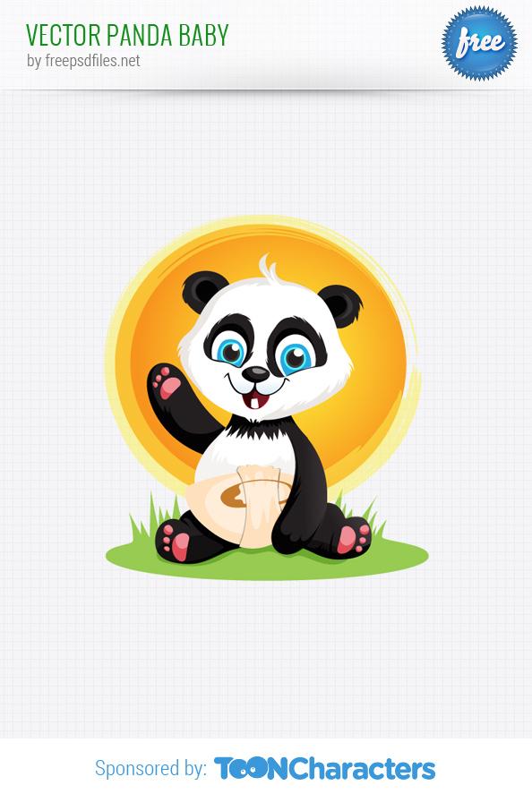 Vector Panda Baby