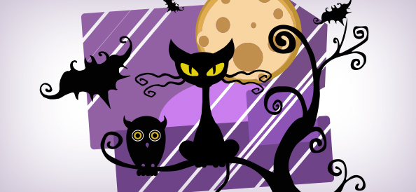 Halloween Night Vector Illustration