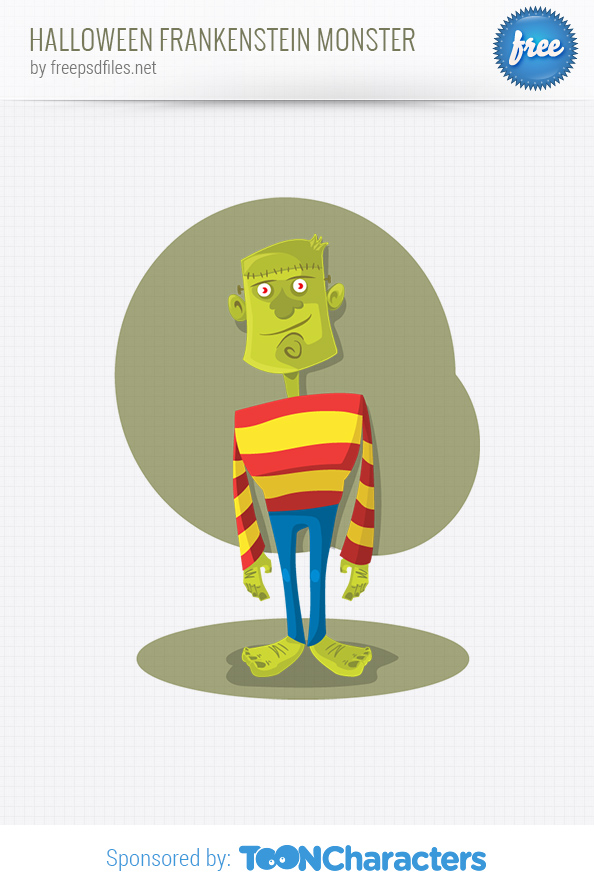 Vector Halloween Frankenstein Monster