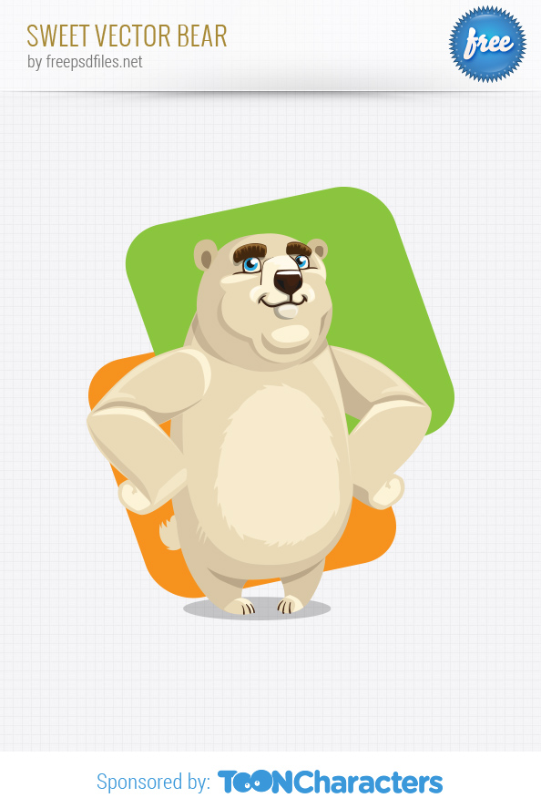 Sweet Vector Bear Preview