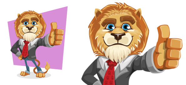 Vector Charming Business Lion