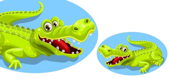 Free Vector Crocodile Character