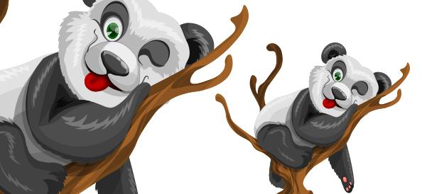 Free Vector Panda Character