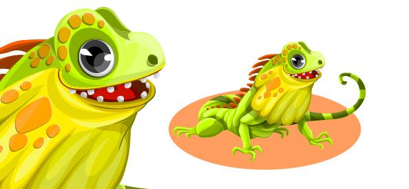 Free Vector Iguana Character
