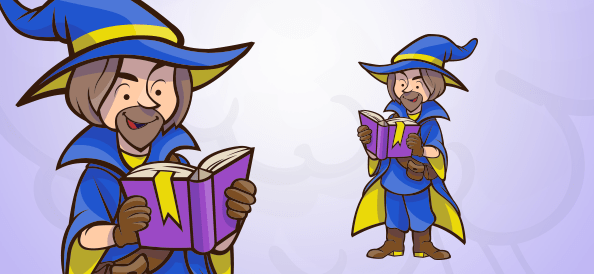 Man Witch Reading a Book