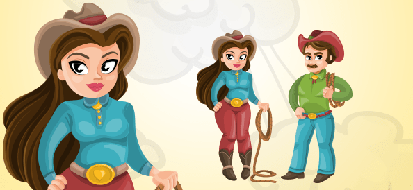 Western Vector Characters