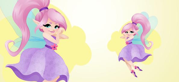 Cute Fairy Mascot