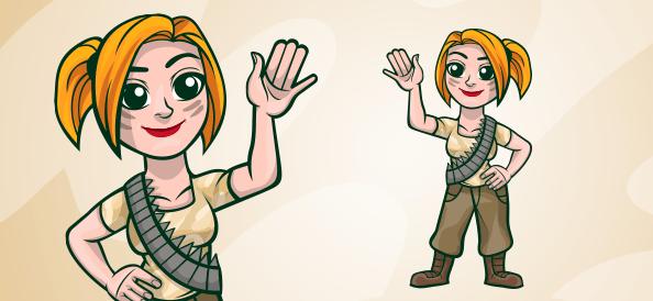 Military Girl Illustration