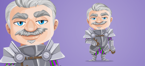 Elderly Knight Vector