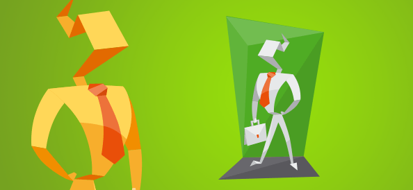Origami Business Character