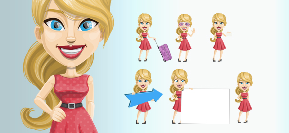 Free Vector Blonde Female