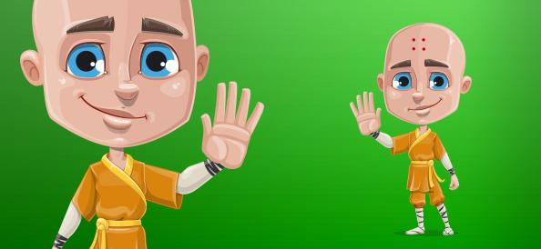 Boy Monk Vector Character