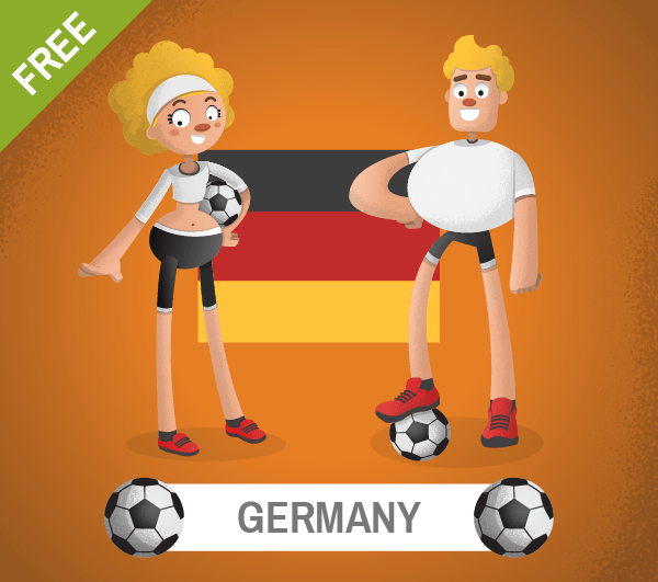 free germany Soccer Cartoon Characters