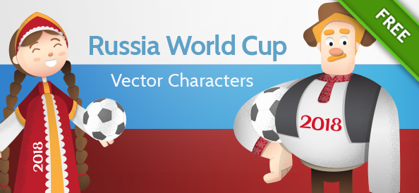 Russia World Cup Vector Characters