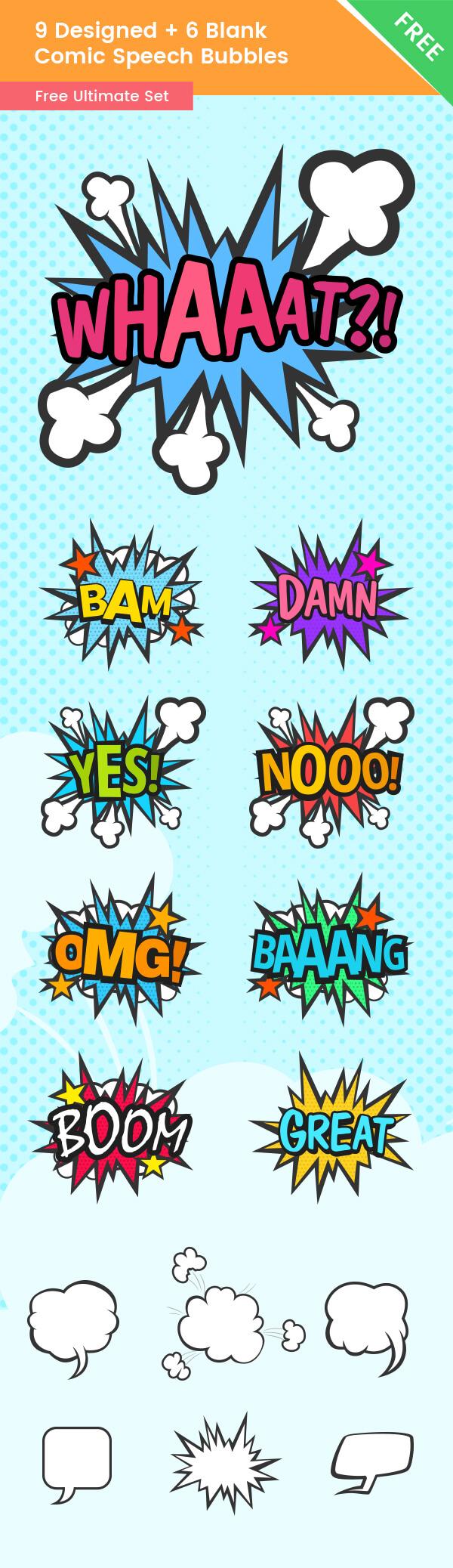 Free Comic Icon Set