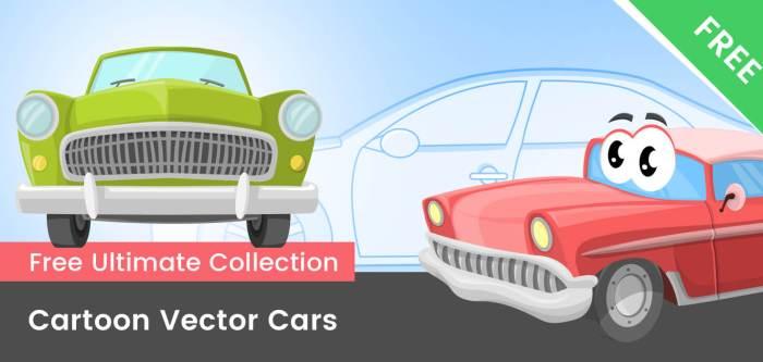 Free Cartoon Cars Vector Mega Collection