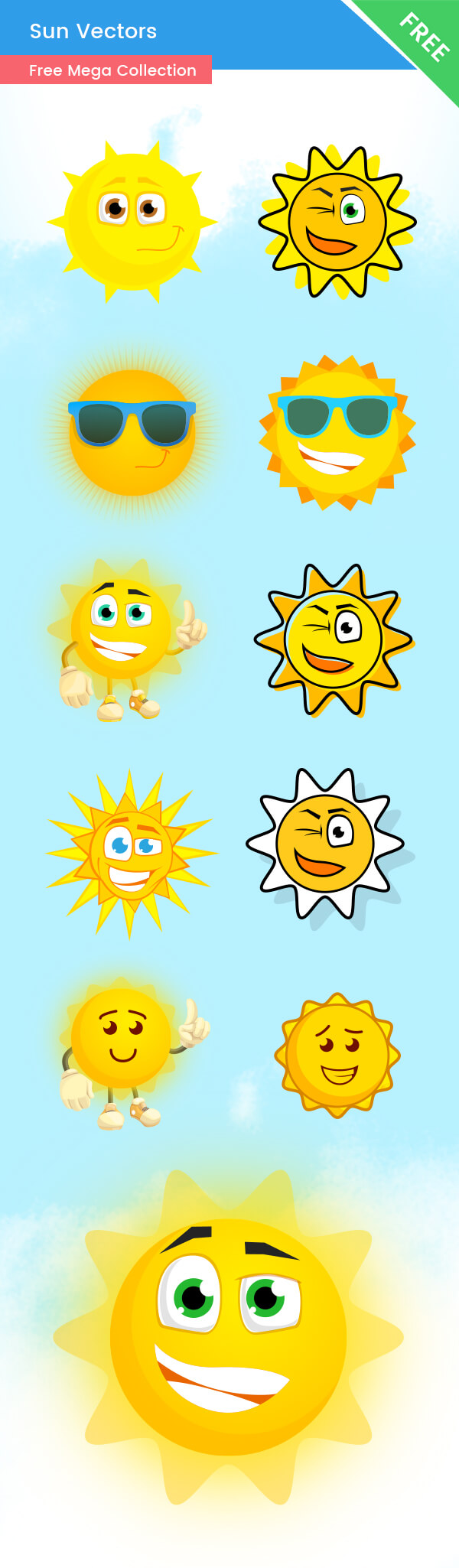 Free Vector Sun Characters - Ultimate Collection