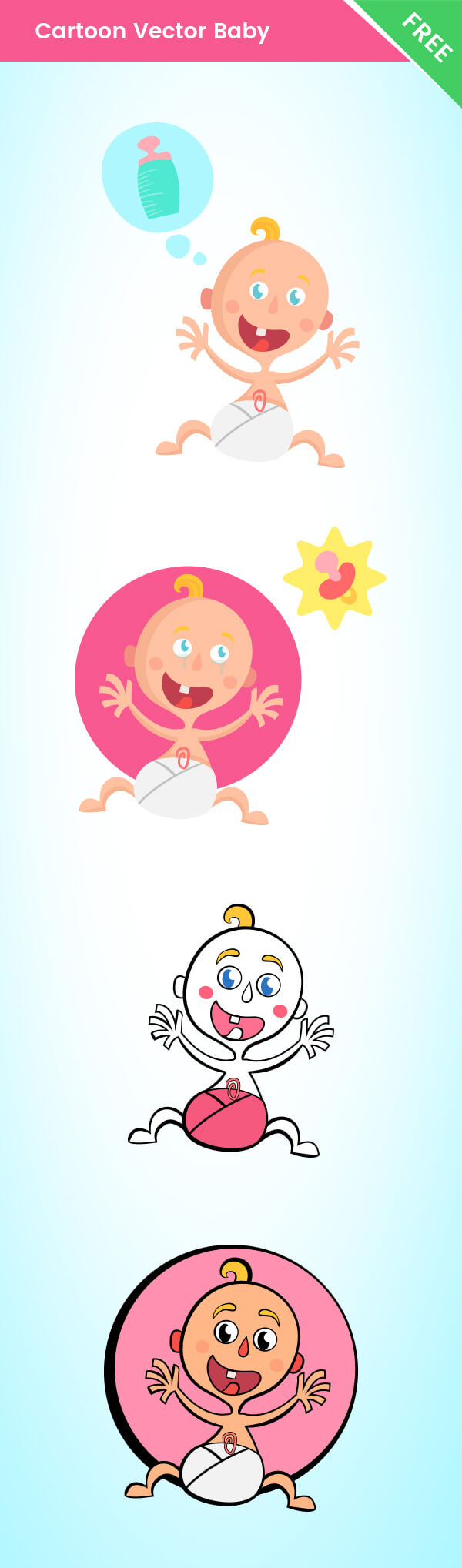 Vector Baby Cartoon Characters
