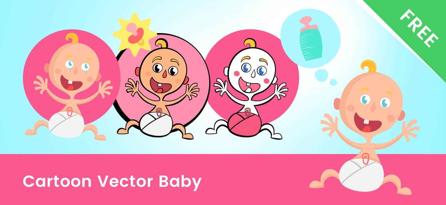 Vector Baby Cartoon Characters