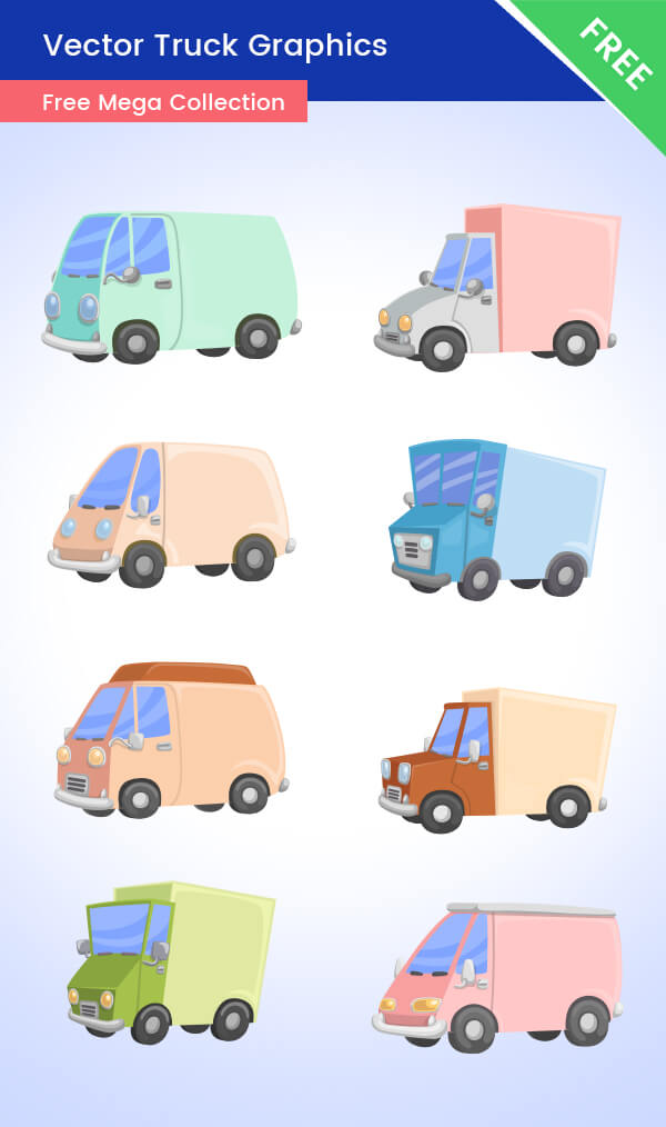 FREE Vector Truck Graphics - Ultimate collection