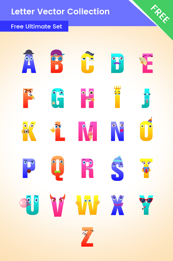 Alphabet Clipart Set Free Colletion