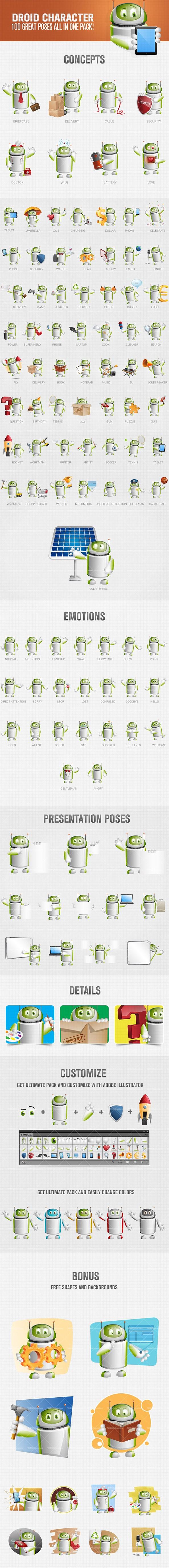 Android vector cartoon