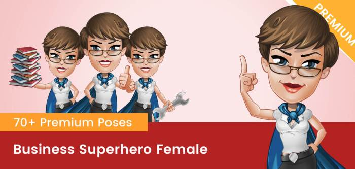 Business Superhero Female Vector
