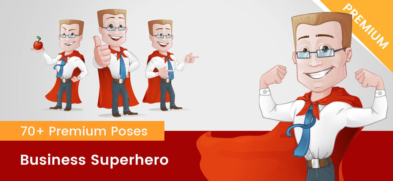 Business Superhero Vector Character