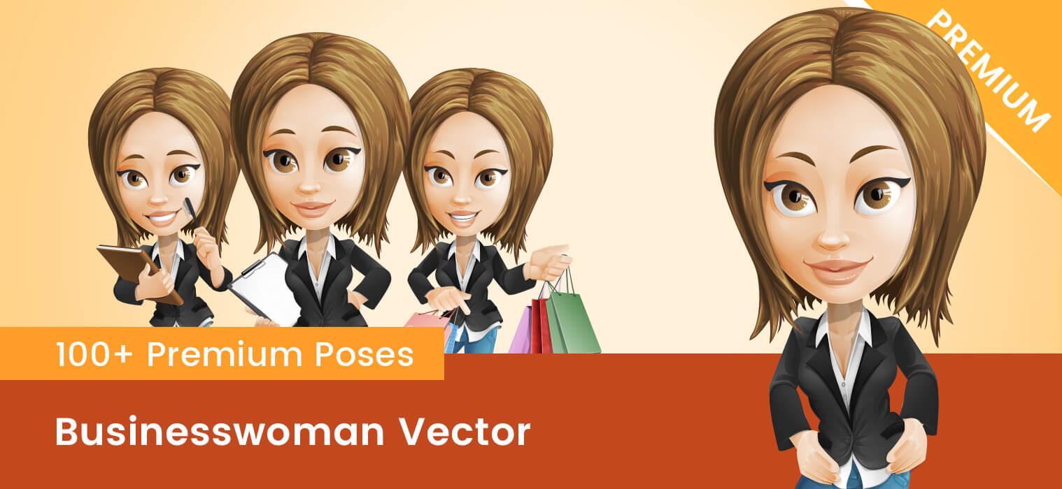 Businesswoman Vector PNG