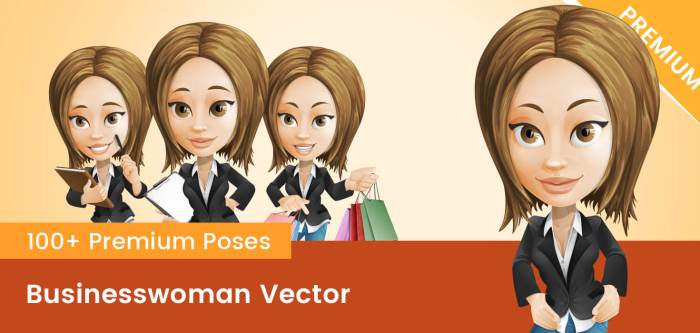 Businesswoman Vector PNG