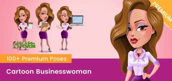 Cartoon Businesswoman PNG