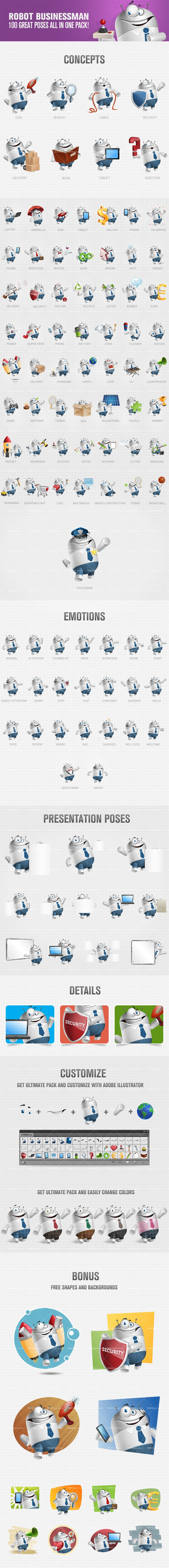 Chubby Robot Cartoon