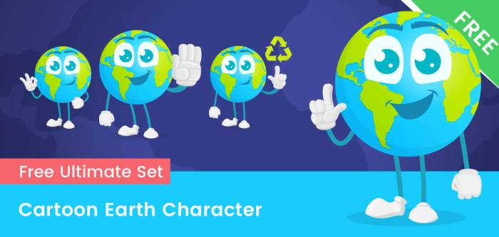 Earth Cartoon Vector Set