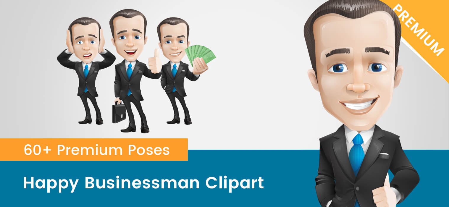 Happy Businessman Clipart