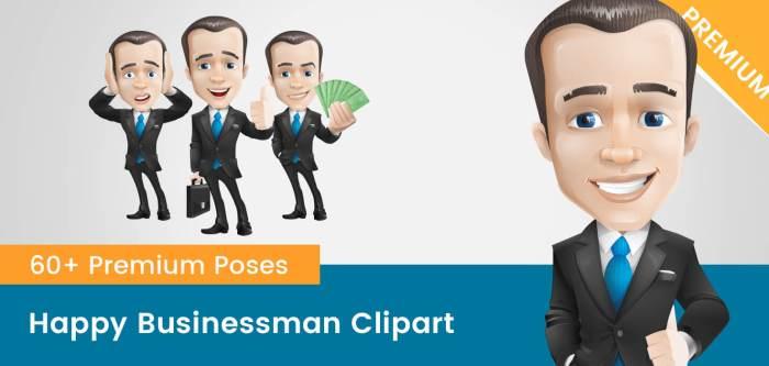 Happy Businessman Clipart