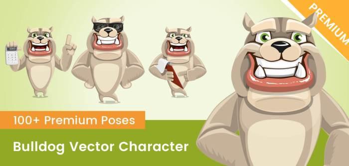 Bulldog Vector Character