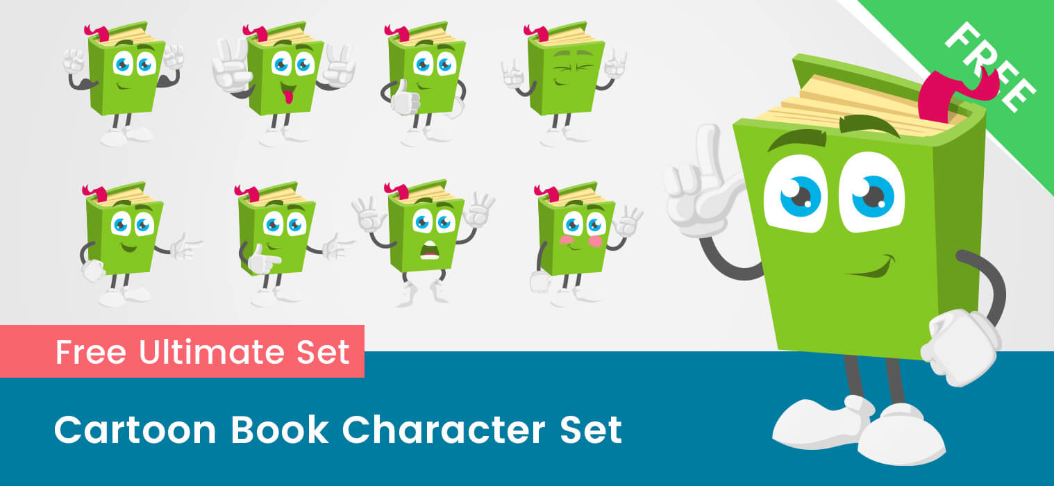 Cartoon Book Vector Set