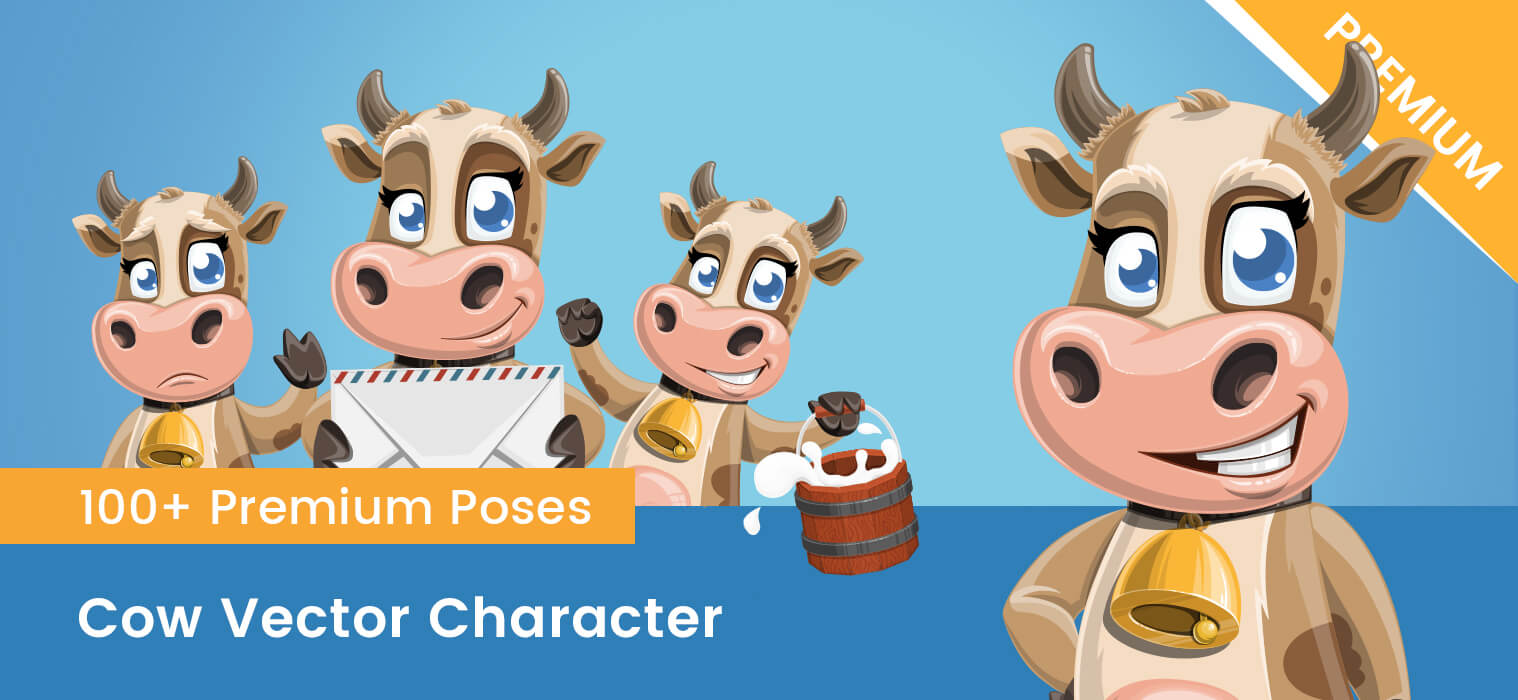Cow Vector Character