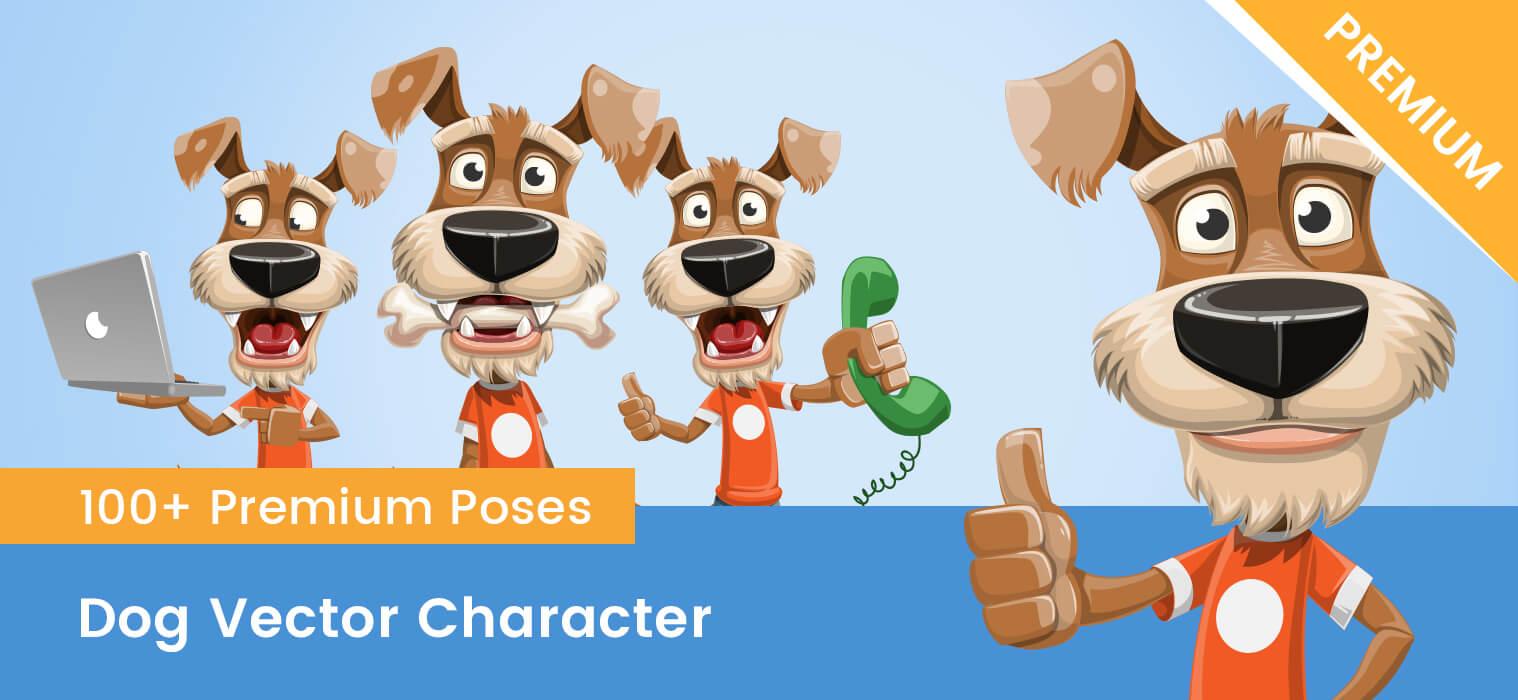Dog Vector Character