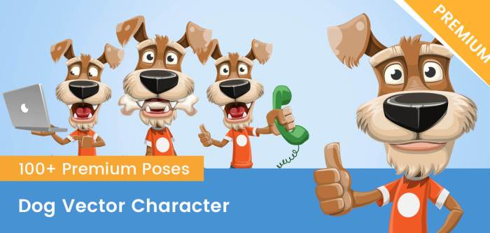 Dog Vector Character