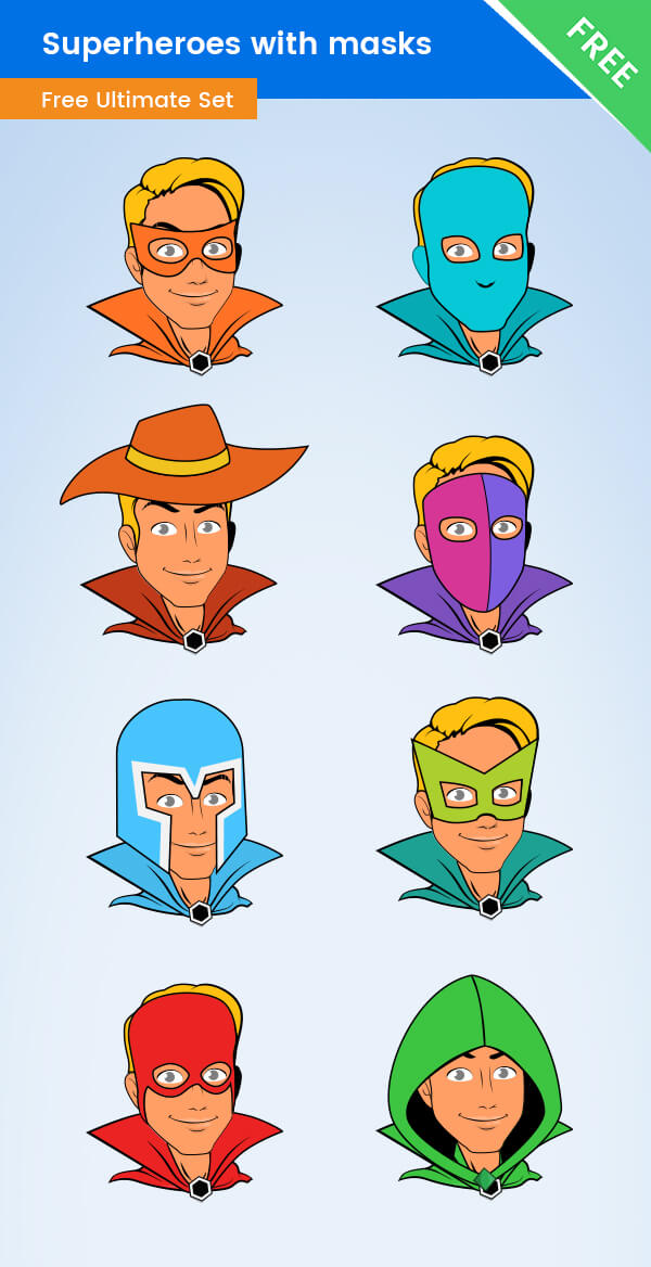 Superhero Mask Vector Free