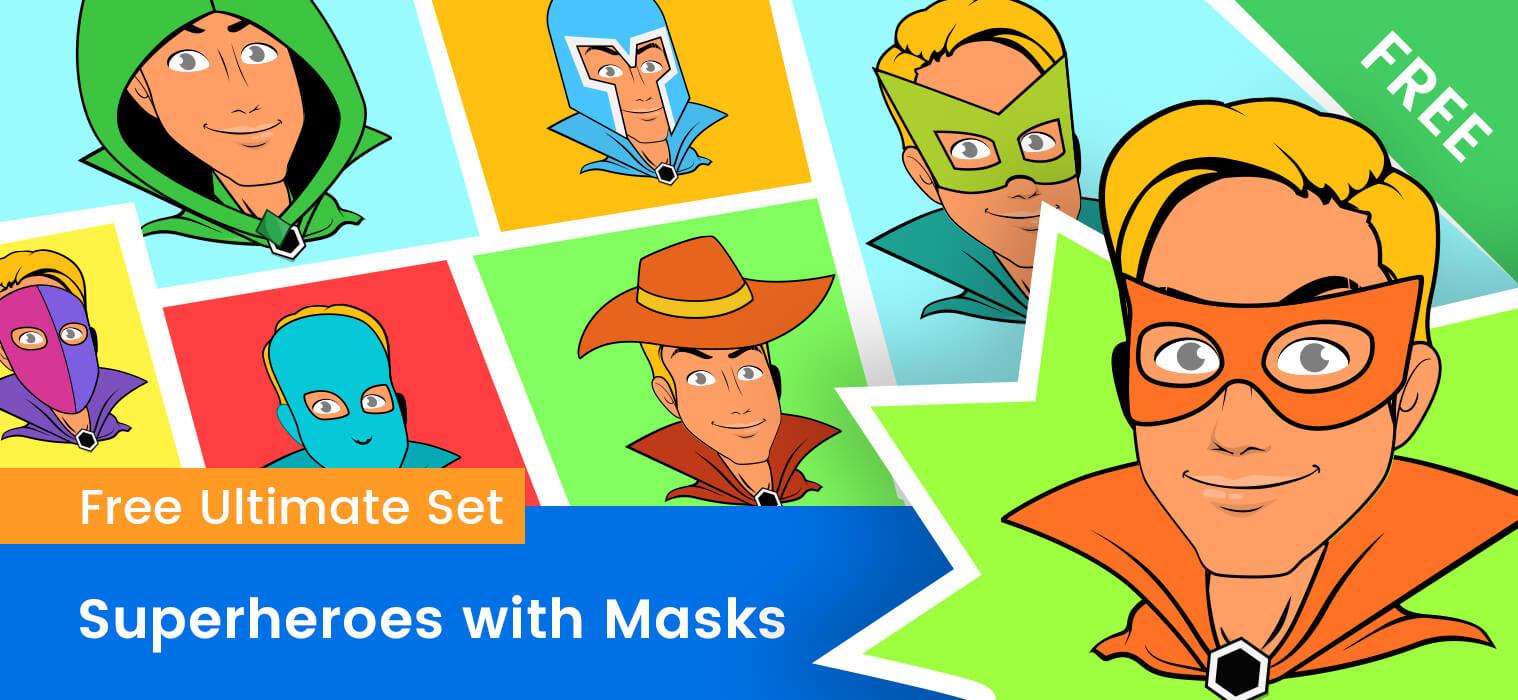 Superhero Mask Vector