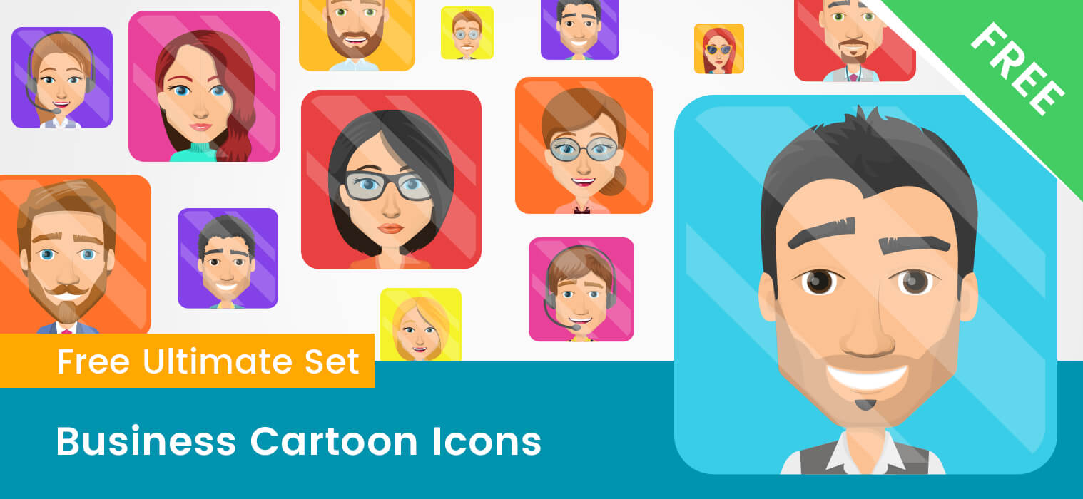 Business Cartoon Icons